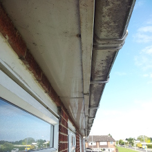 Before Shot Gutter of Cleaning Braintree.