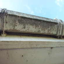 Close up before Shot Gutter of Cleaning Braintree.