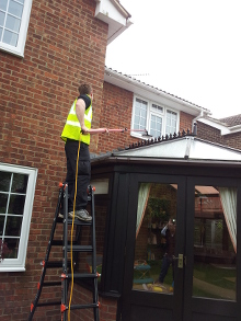 Above Conservatory Window Cleaning in Wickham Bishops 2