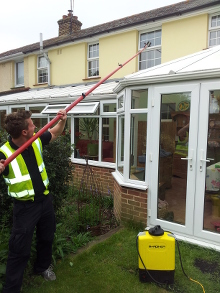 Above Conservatory Window Cleaning in Great Totham